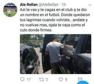 Tuit de Alejandro Rellano a Sand
