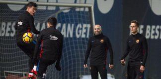 Entrenamiento de esta tarde del FC Barcelona.